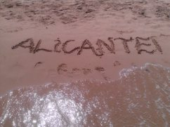 Acting like a child on one of the many beautiful beaches that Alicante has to offer!